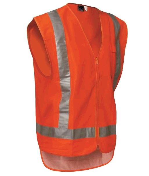 TTMC Zipped Safety Hi-Vis Vest - HVDN1O