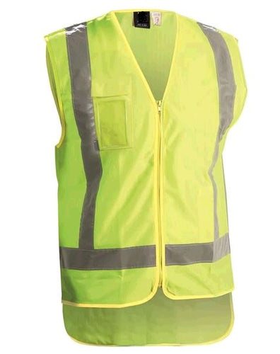 Day/Night Zipped Yellow Hi-Vis Vest - HVDN1Y