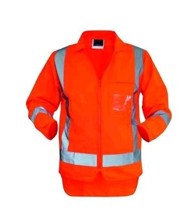 TTMC Zipped L/S Safety Hi-Vis Vest - HVDN40