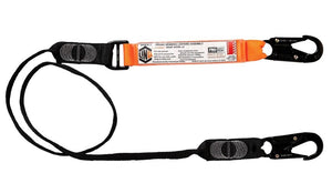LINQ Elite Single Leg Shock Absorbing Webbing Lanyard with Hardware - WLO1SNSN