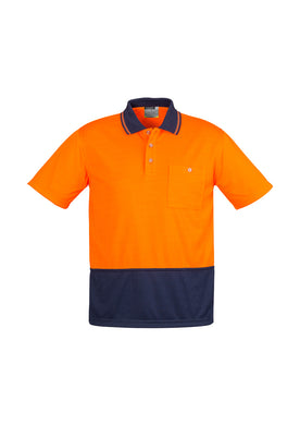Syzmik Basic S/S Polo Orange/Navy - ZH231