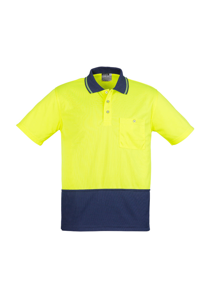 Syzmik Basic S/S Polo Yellow/Navy - ZH321