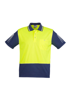 Syzmik Hi-Vis Zone Polo Yellow/Navy - ZH236