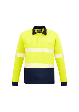 Syzmik Segmented Hi-Vis L/S Yellow/Navy Polo - ZH530