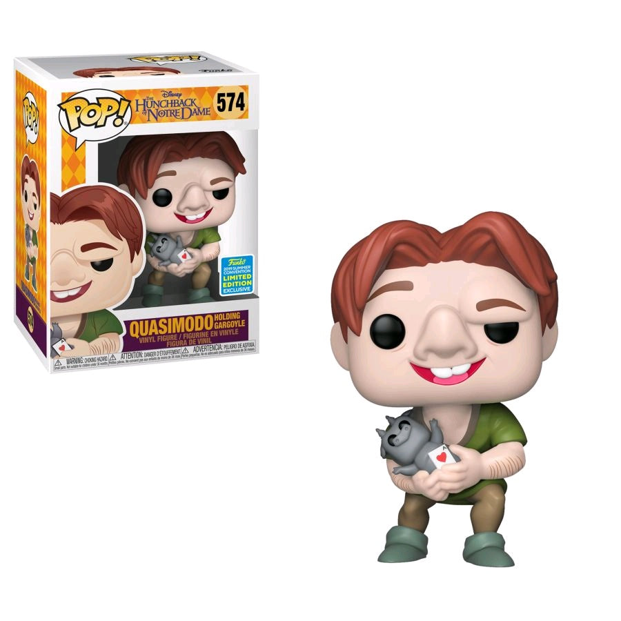 toy-lectables - Hunchback of Notre Dame - Quasimodo holding Gargoyle SDCC 2019 US Exclusive Pop! Vinyl [RS] - FUNKO Pop! vinyl - FUNKO