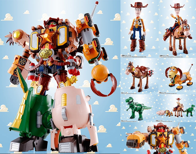 toy-lectables - CHOGOKIN Woody Robo Sherrif TOY STORY - Cool shit - Bandai