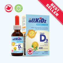 Load image into Gallery viewer, allKiDz® Vitamin D3 Drops (for babies)