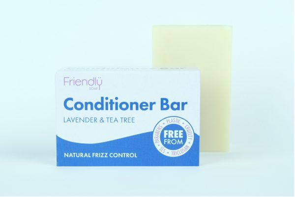 Plastic free hair conditioner soap bar - Lavender and tea tree