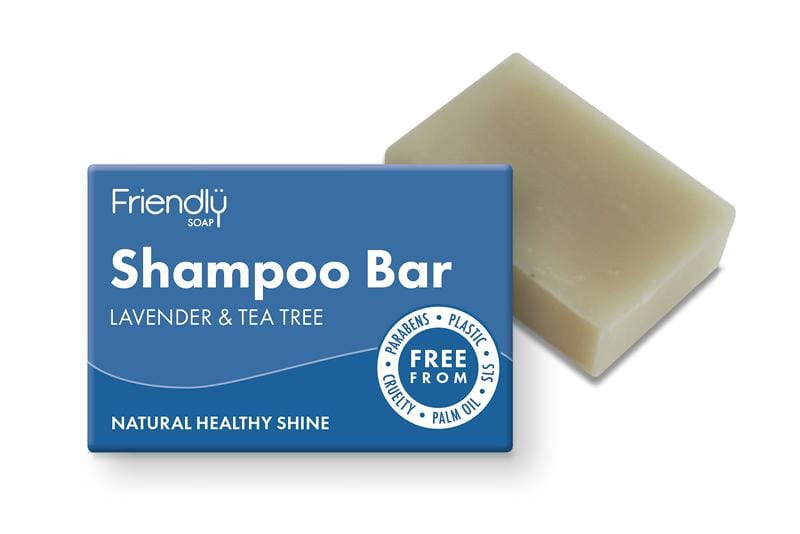 Plastic free shampoo soap bar - Lavender and tea tree