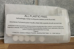 Plastic free toothpaste tablets - 7 day trial pack