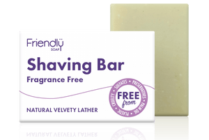 Plastic free shaving soap bar - fragrance free