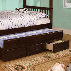 University I Dark Walnut Trundle (3 Drawers)