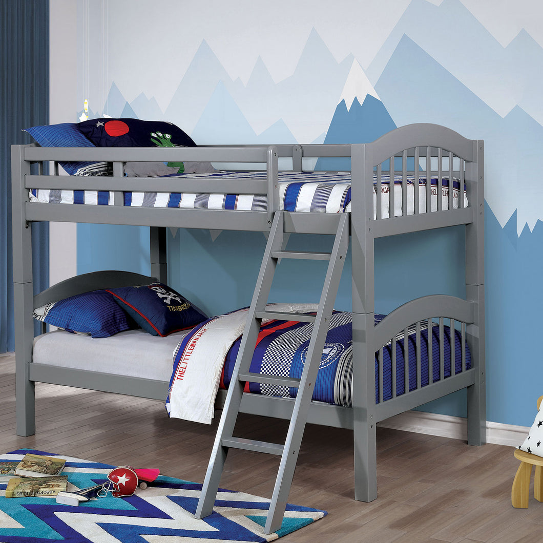 Coney Island Gray Twin/Twin Bunk Bed