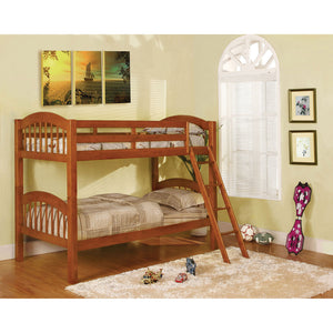 Coney Island Oak Twin/Twin Bunk Bed