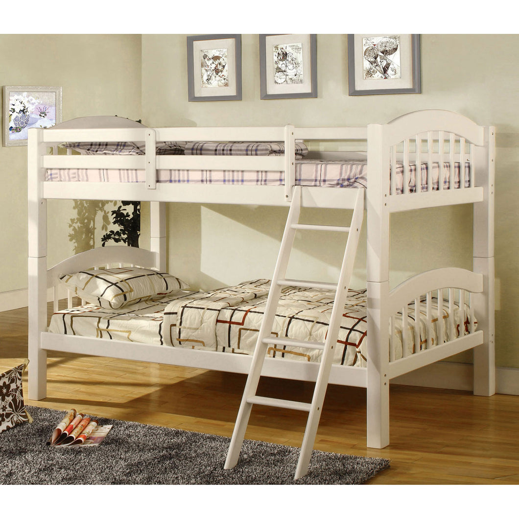 Coney Island White Twin/Twin Bunk Bed