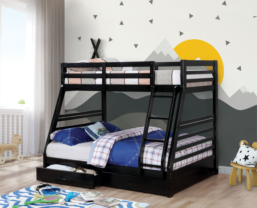 California Iv Black Twin/Full Bunk Bed
