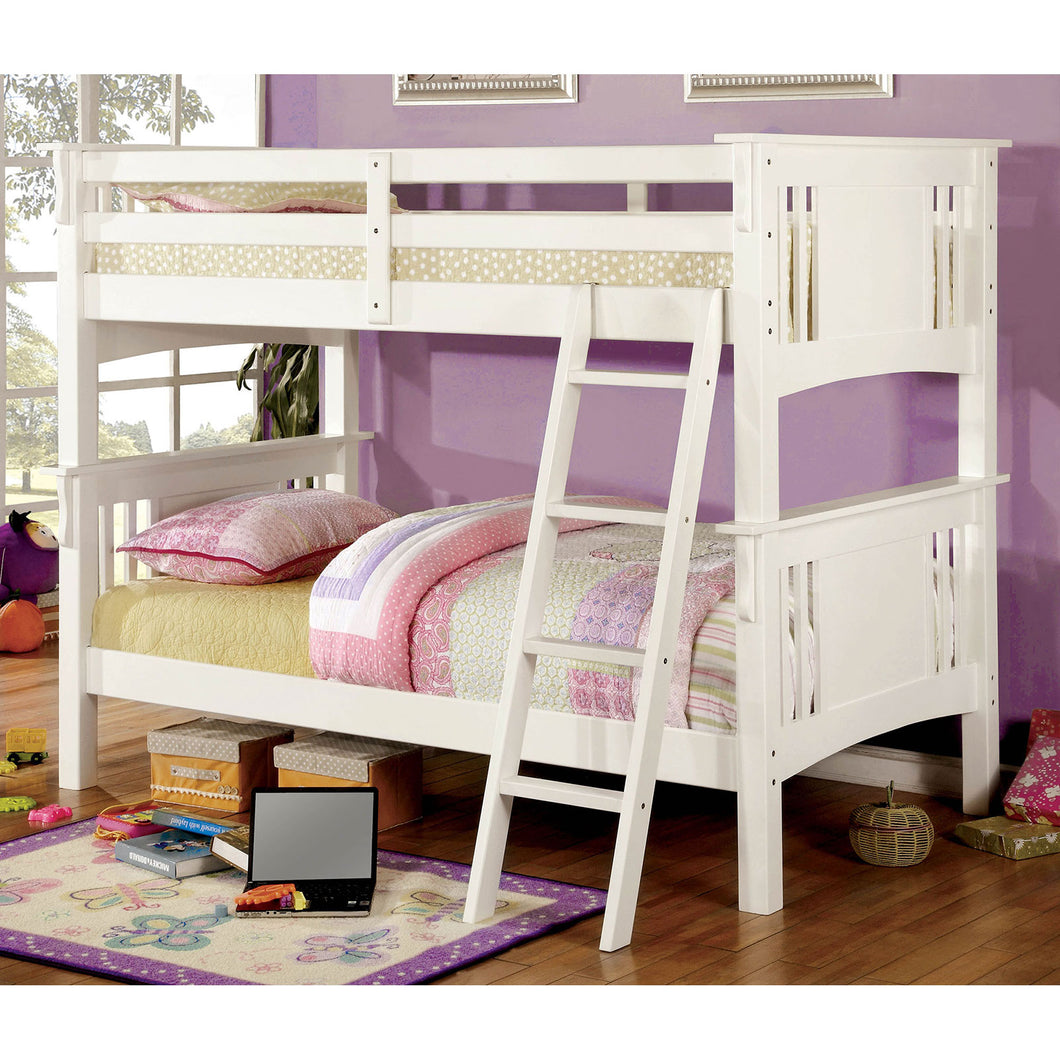 SPRING CREEK White Twin/Twin Bunk Bed