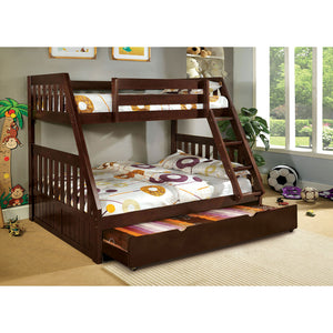 Canberra Dark Walnut Twin/Full Bunk Bed