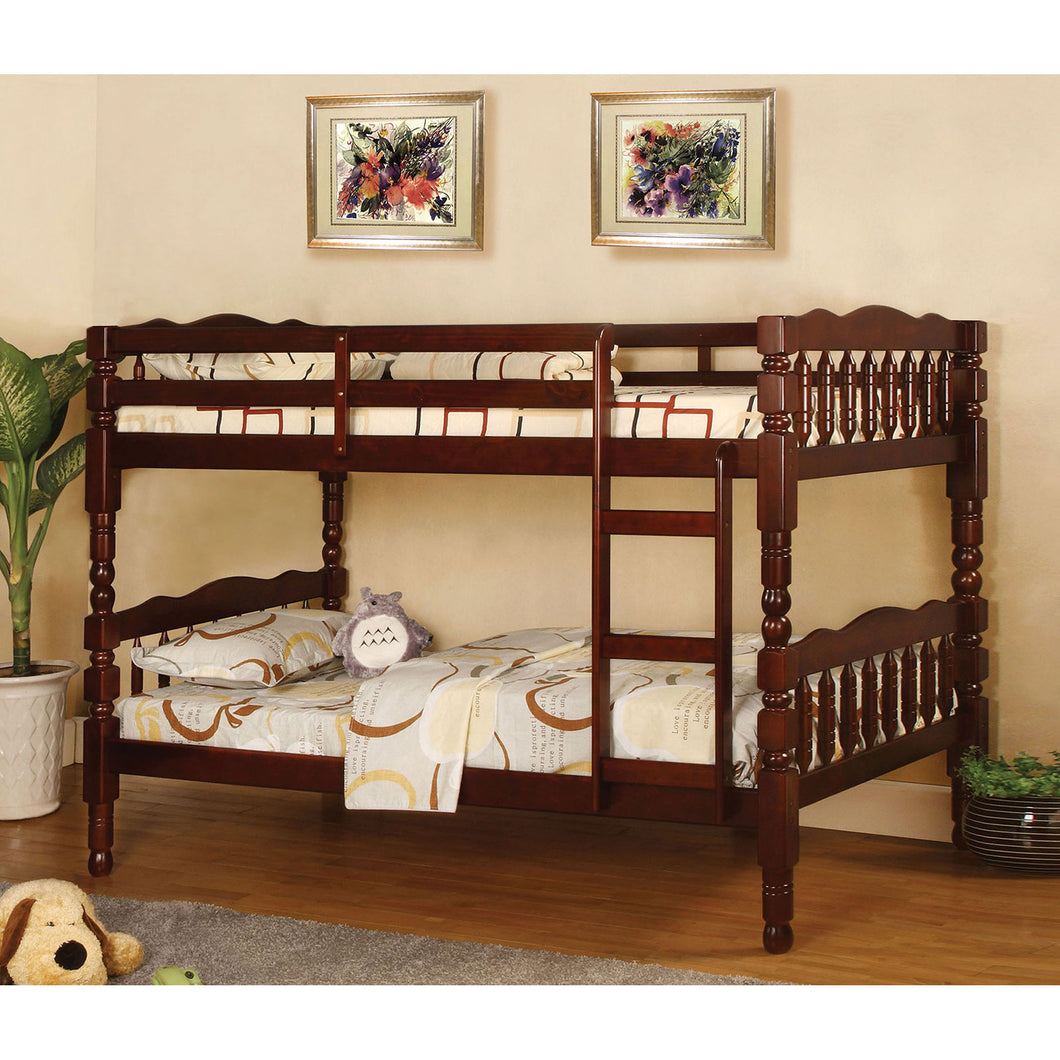 Catalina Cherry Twin/Twin Bunk Bed