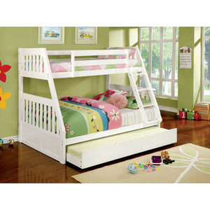 CANBERRA II White Twin/Full Bunk Bed
