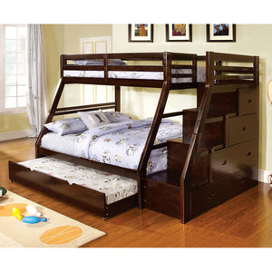 Ellington Dark Walnut Twin/Full Bunk Bed