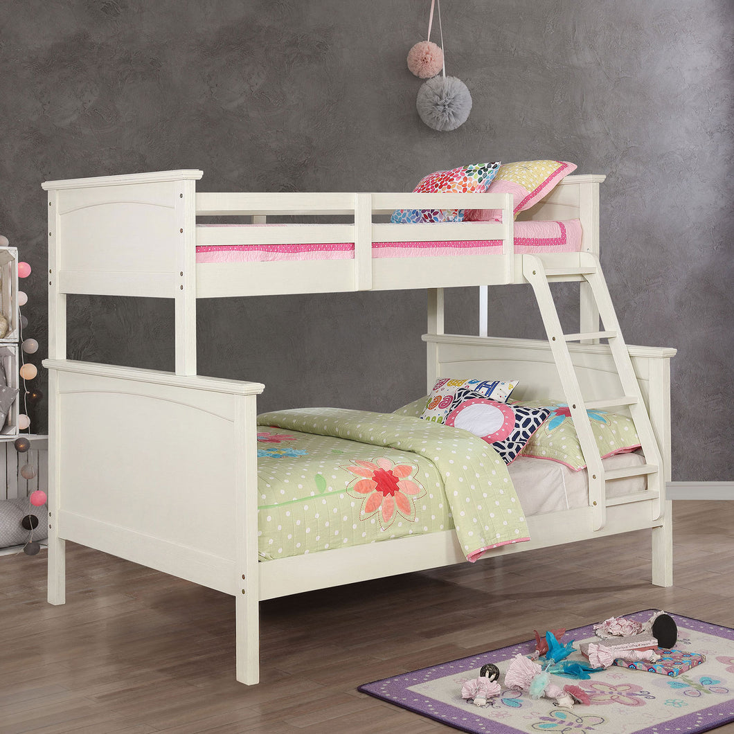 Marci White Twin/ Full Bunk Bed