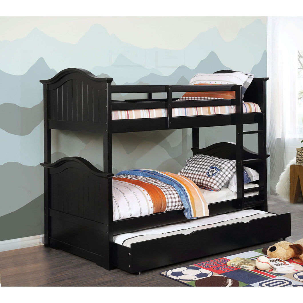 Hermine Black Twin/Twin Bunk Bed