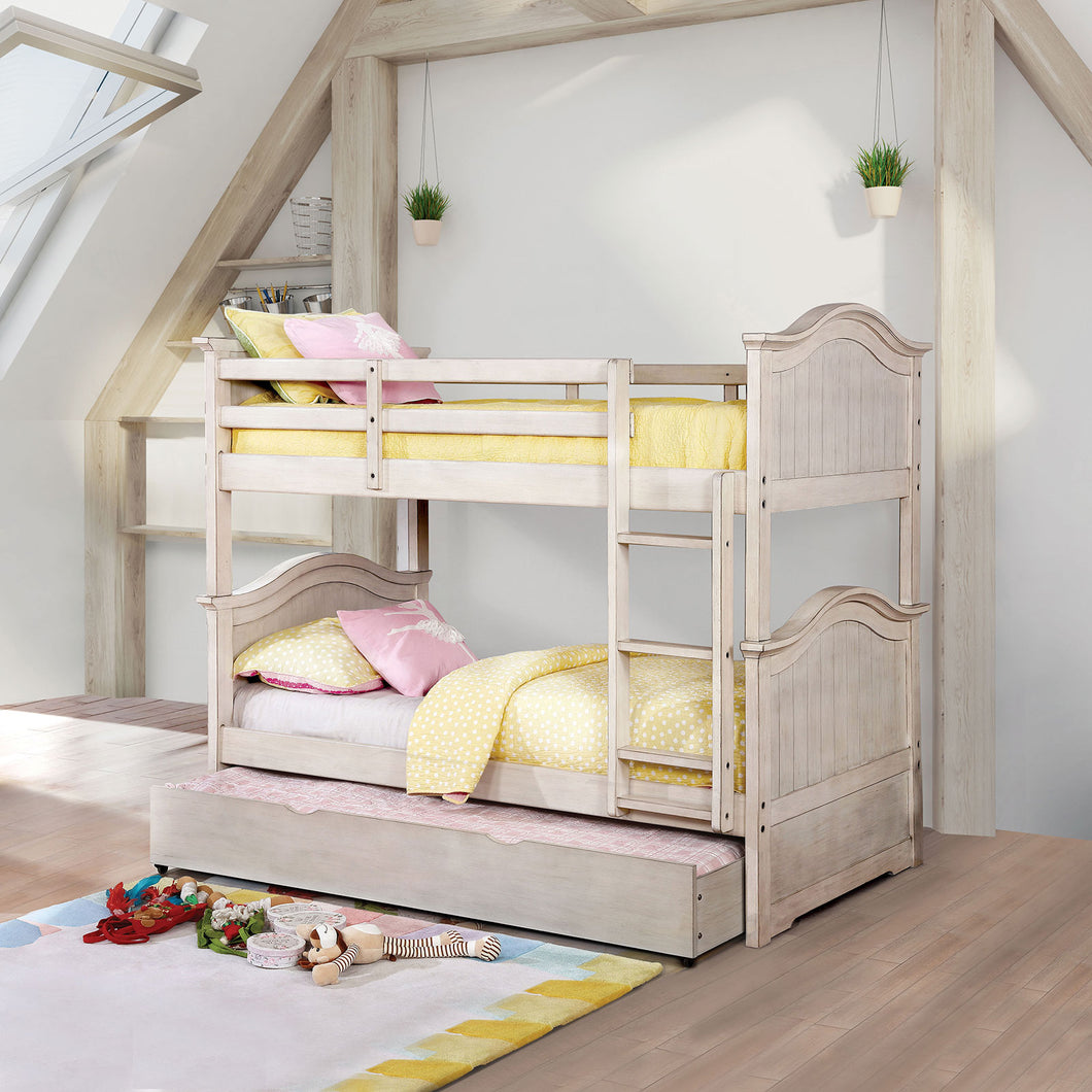 Hermine White Twin/Twin Bunk Bed