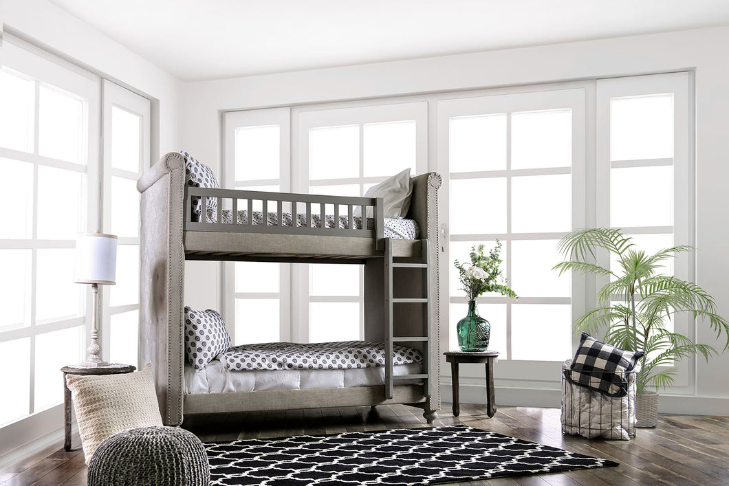 Sascha Gray Twin/Twin Bunk Bed