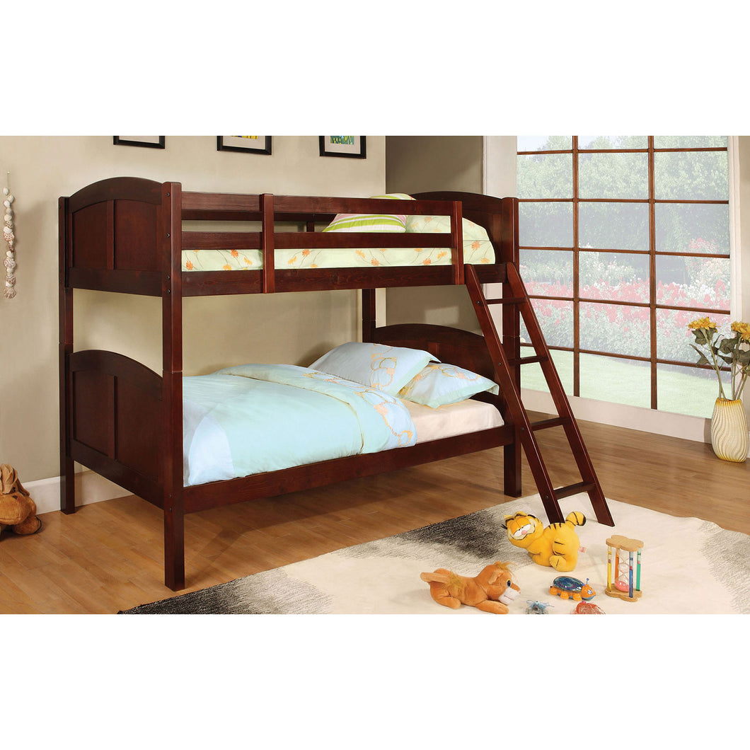 Rexford Cherry Twin/Twin Bunk Bed