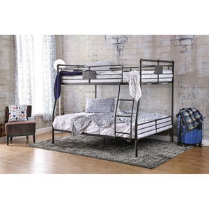 Olga I Antique Black Full/Queen Bunk Bed