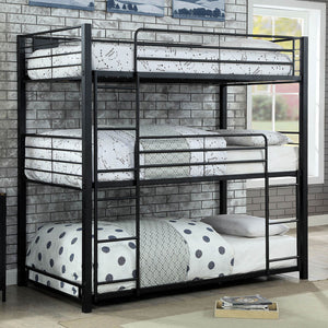 Olga I Sand Black Twin Triple Decker Bed