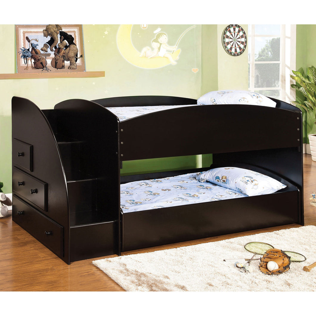 Merritt Black Twin/Twin Bunk Bed