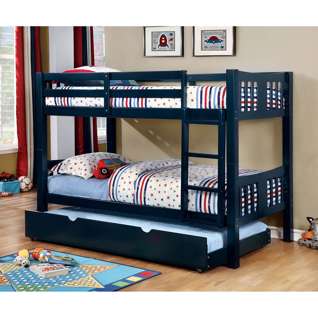 CAMERON Blue Twin/Twin Bunk Bed