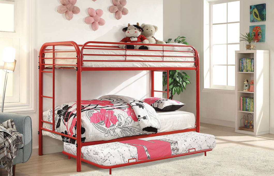 Opal Red Twin/Twin Bunk Bed