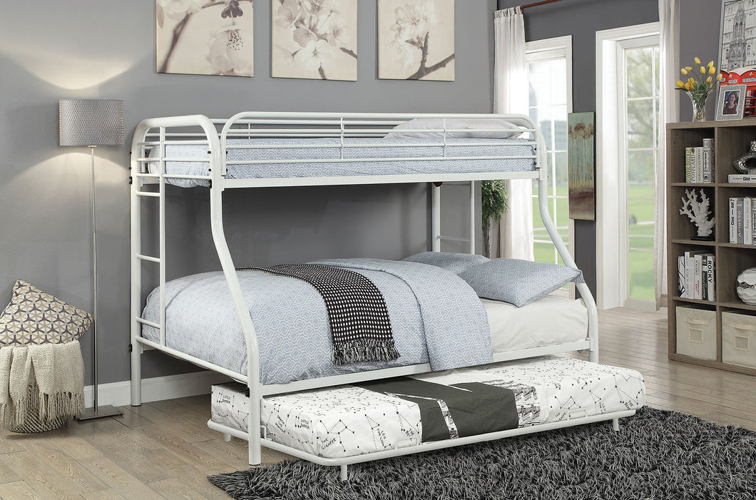 Opal White Twin/Full Bunk Bed