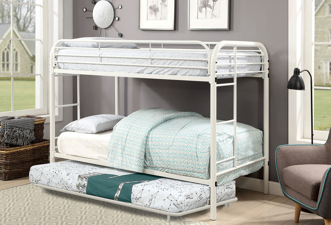 Opal White Twin/Twin Bunk Bed