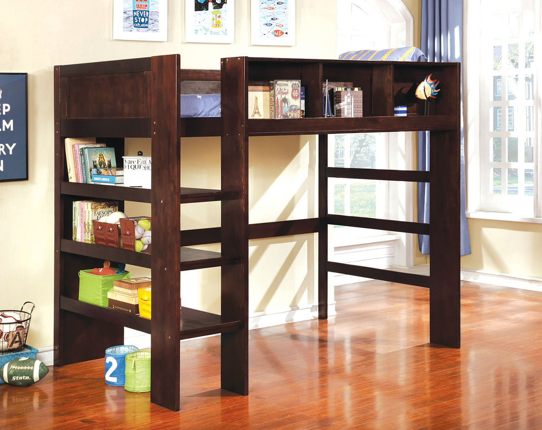 Annemarie Dark Walnut Twin Loft Bed