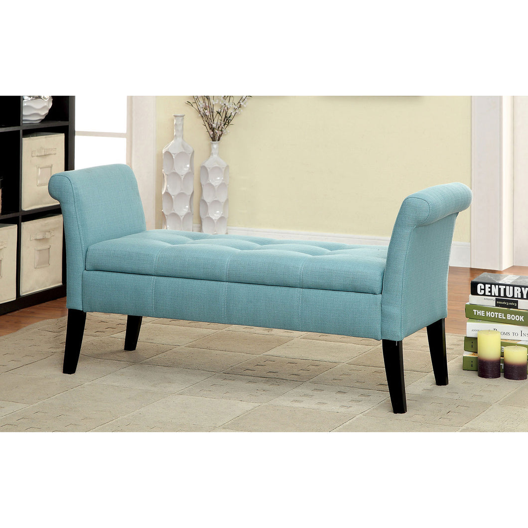 DOHENY Blue Storage Bench
