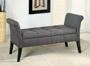 Doheny Gray Storage Bench