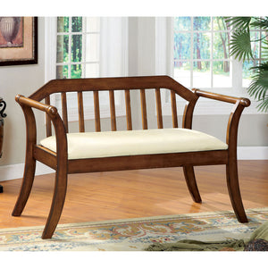 Derby Dark Oak/Beige Bench