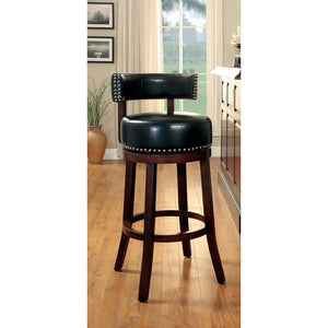 "SHIRLEY Dark Oak/Black 24"" Bar Stool"