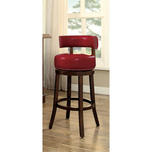"SHIRLEY Dark Oak/Red 29"" Bar Stool"