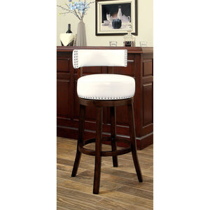 "SHIRLEY Dark Oak/White 29"" Bar Stool"