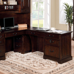 TAMI Dark Walnut Corner Desk