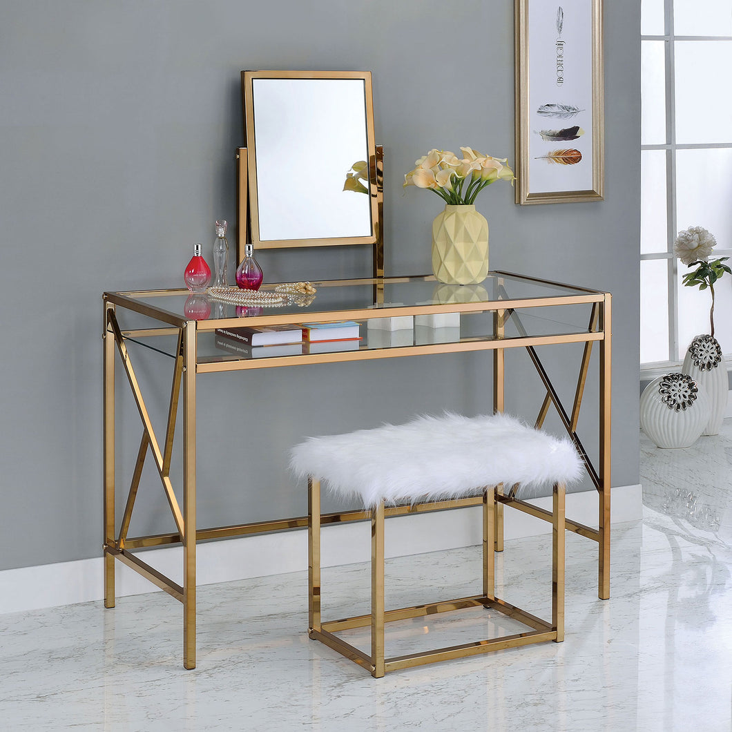 LISMORE Champagne Vanity w/ Stool