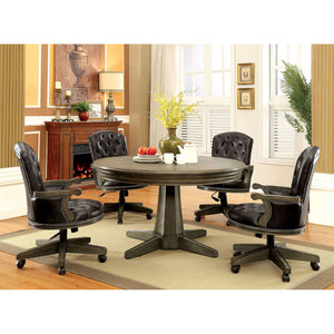YELENA Gray, Black 5 Pc. Dining Table Set
