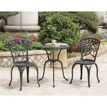 Load image into Gallery viewer, Crary Black 3 Pc. Round Bistro Table Set