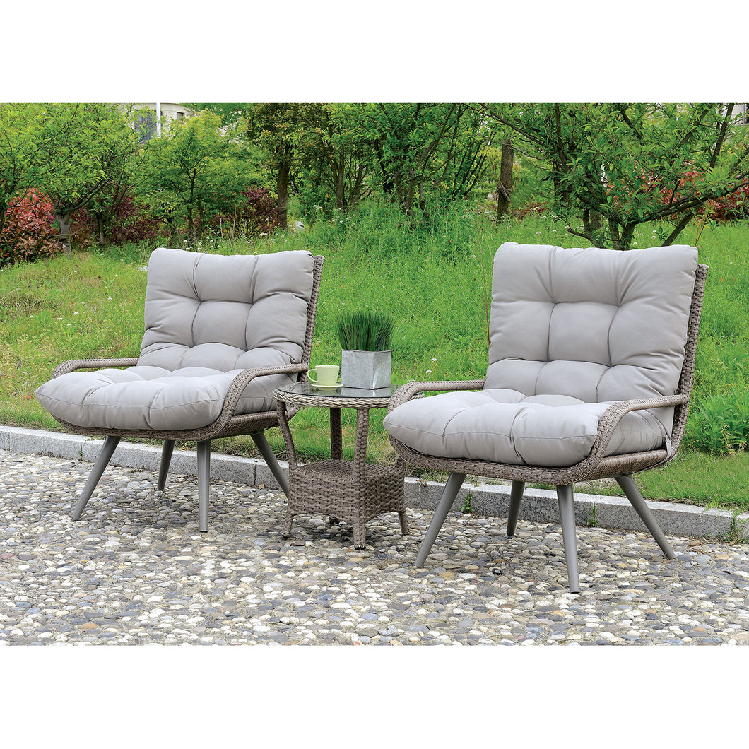 Glendive Gray 3 Pc. Patio Set