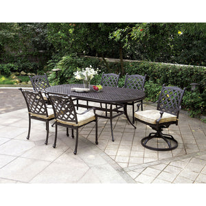 CHIARA I Bronze 7 Pc. Patio Dining Table Set